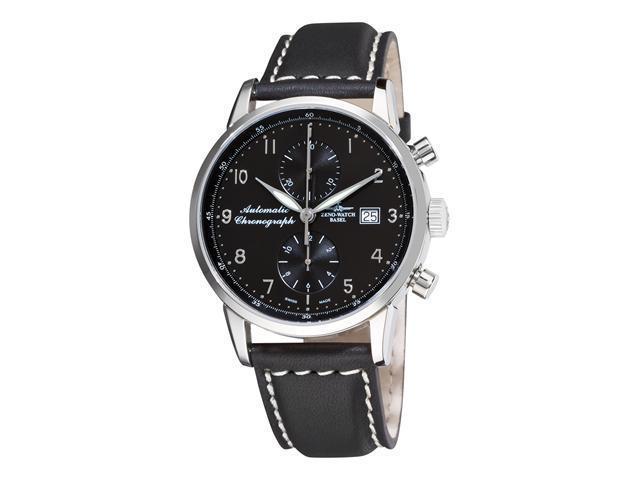Zeno Magellano Mens Black Strap Automatic Chronograph Watch 6069BVD-C1