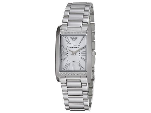 Emporio Armani Womens Slim Mother of Pearl Dial Quartz Watch