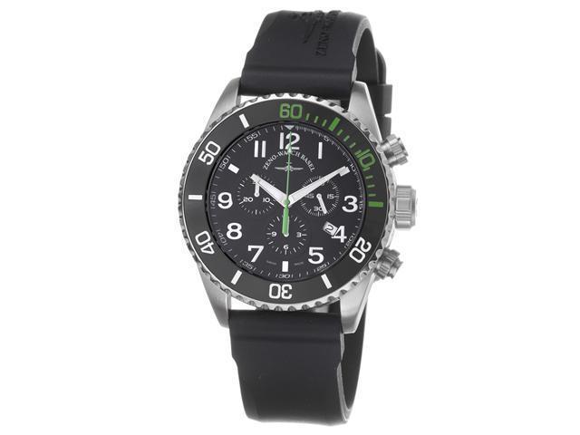 Zeno Mens Divers Black Dial Black Strap Chronograph Watch 6492-5030Q-A1-8