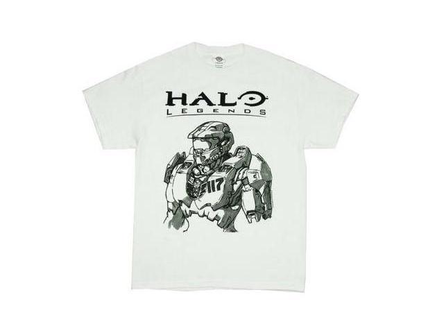 Halo Legends Master Chief Spartan Sketch Men's T-Shirt