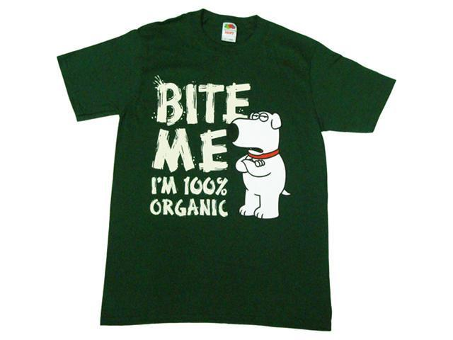 Family Guy Brian Bite Me I'm 100% Organic Men's T-Shirt