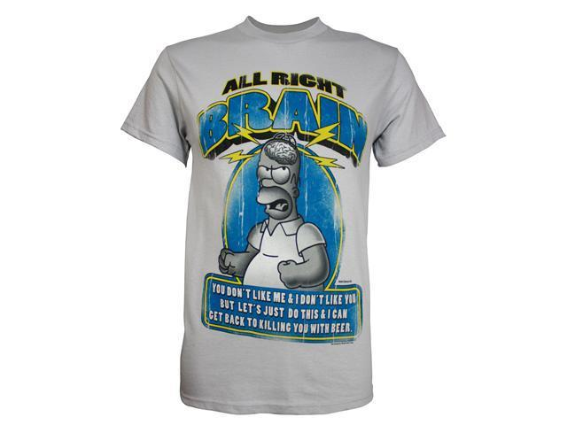 Simpsons Homer All Right, Brain Men's T-Shirt