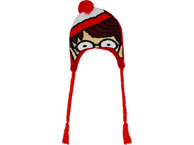 Where's Waldo? Big Face Knit Peruvian Laplander Cap