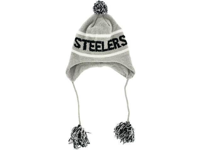 Pittsburgh Steelers Grey Team Tassel Hat