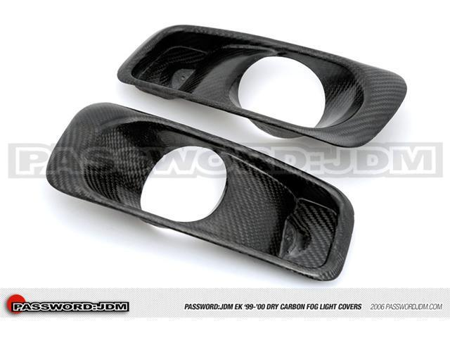 Password:JDM Dry Carbon Fiber Fog Light Covers (EK 99-00 Civic)