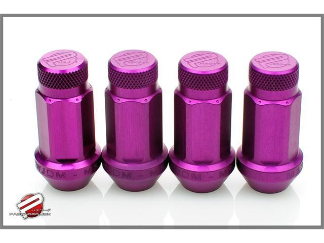 Password:JDM Aluminum Lug Nuts Purple (20 Pack Extended Close End) 12 x 1.5