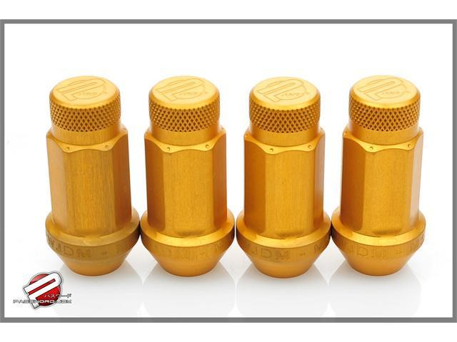 Password:JDM Aluminum Lug Nuts Gold (16 Pack Extended Close End) 12 x 1.5
