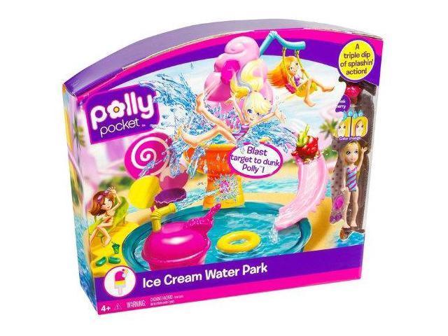 Mattel Polly Pocket Ice Cream Water Park Playset