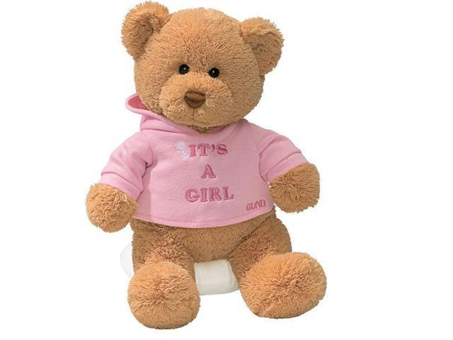 Enesco Its A Girl Bear Plush - 7.5 Inches
