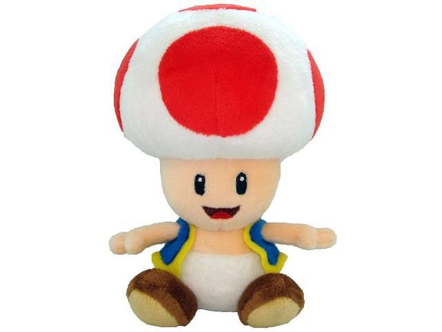 Super Mario Plush Toad Soft Stuffed Plush Toy by Sanei - 6