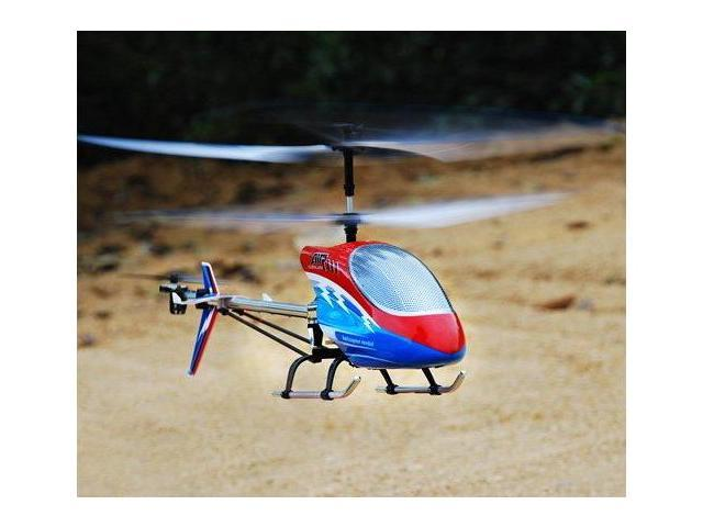 The Newest DH 9060 3 Channel Air Overlord RC Helicopter w/LED Lights & Balance Bar Spinning Lights