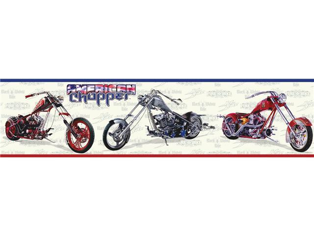 American Chopper Peel & Stick Border