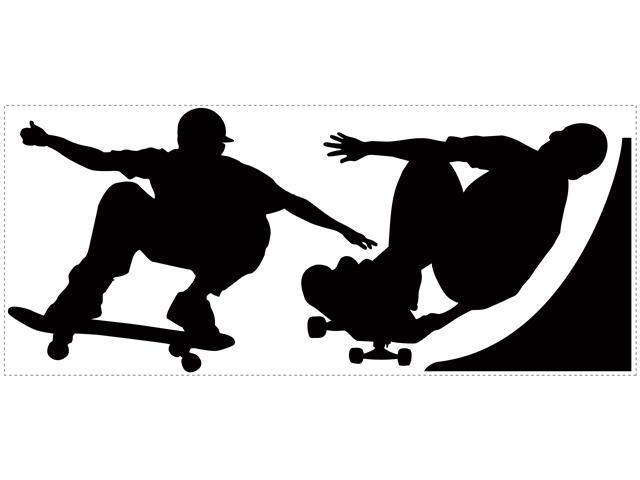 Chalkboard Skaters Peel & Stick Chalkboard Wall Decals