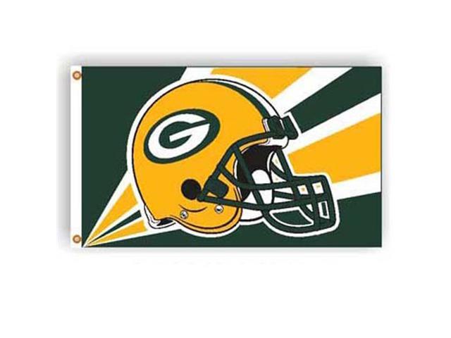 Green Bay Packers NFL Helmet Design 3'x5' Banner Flag