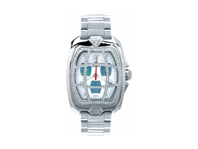 Aqua Master Men's Aqua-Diamond Watch with Diamond Grille, 2.00 ctw