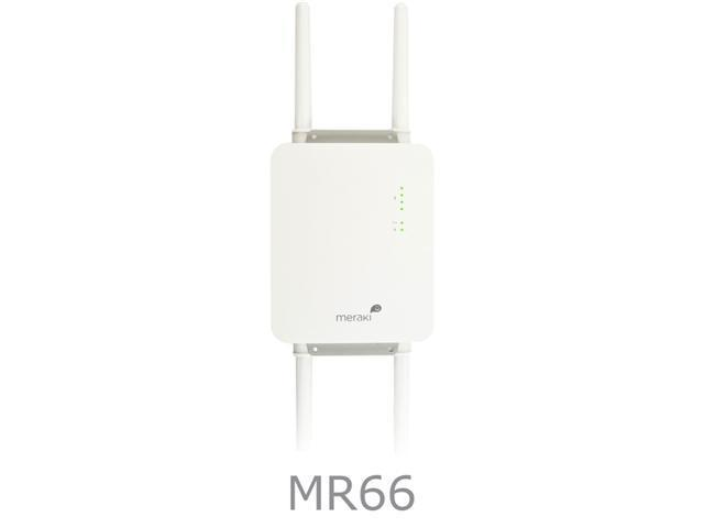 Meraki Ruggedized Dual-Radio 600 Mbps Cloud-Managed Wireless 802.11n Access Point (MR66)