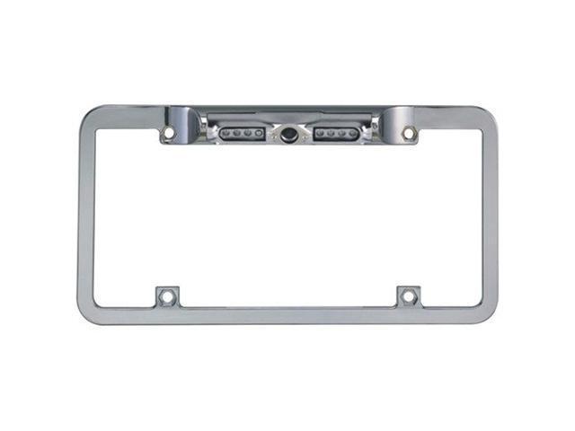 Boyo VTL200CIR Zinc Metal Full Frame License Plate Camera (Chrome)