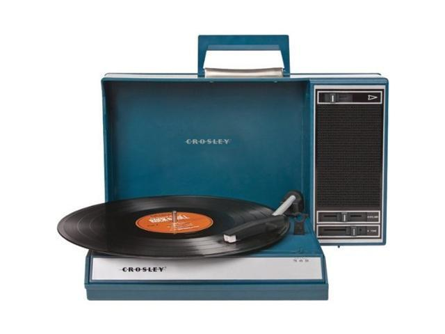 CROSLEY CR6016A-BL Blue Spinnerette Portable USB Turntable