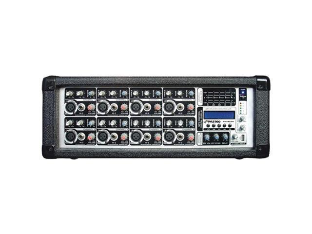 PYLE 8-Channel 800W Powered Mixer, AUX Input, SD Memory Card & USB Flash Drive Readers, LCD Display PMX802M