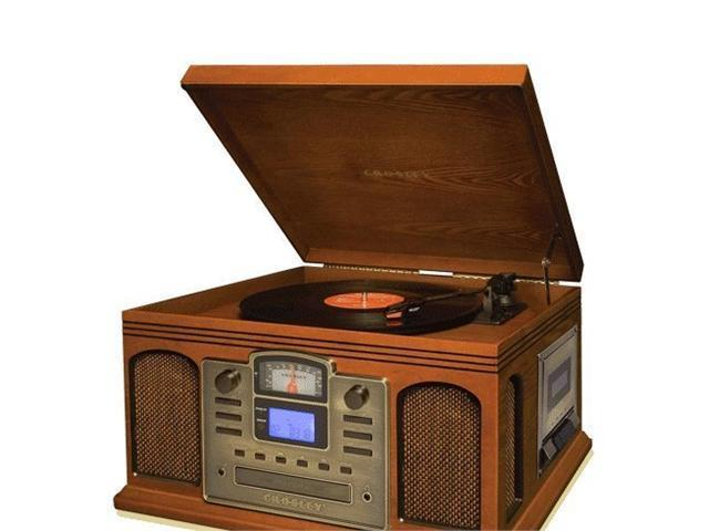 Crosley CR2405A-PA Director CD Recorder with Cassette Player (Paprika)