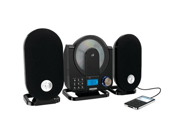 GPX HC208B Home Music System Vertical CD Player with AM/FM Radio and Digital Clock Includes Remote Control (Black)