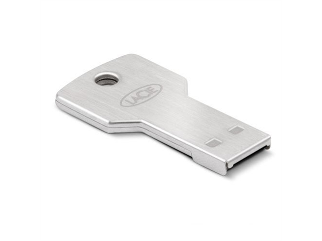 LaCie 32GB PetiteKey USB 2.0 Flash Drive 256bit AES Encryption Model LAC9000348