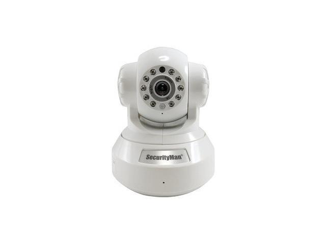 SecurityMan IPCam-SD DIY wireless/wired IP camera with H.264, SD recorder, night vision, PTZ, & 2-way audio