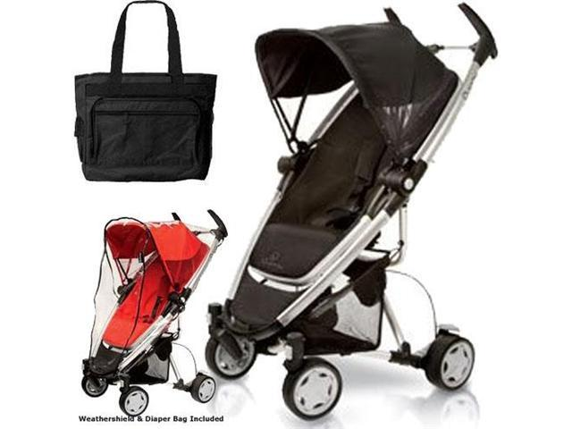 Quinny CV080RKBKT1 Zapp Xtra Stroller with Diaper Bag and Weathershield - Rocking Black