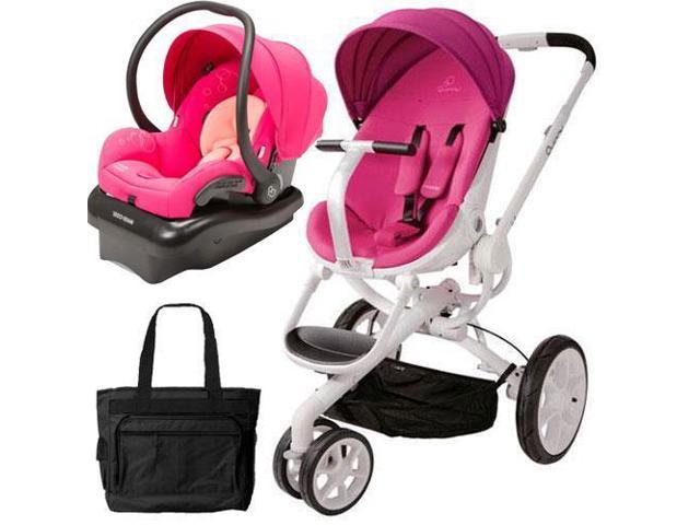 quinny cv078bfu moodd stroller travel system with diaper bag and car seat pink passion. Black Bedroom Furniture Sets. Home Design Ideas
