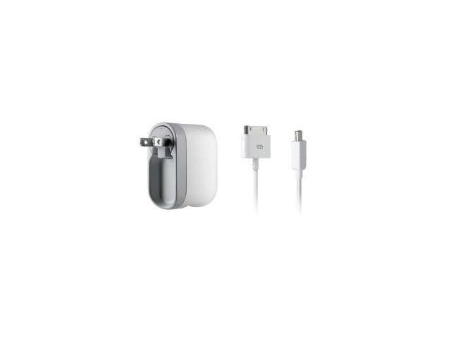 Belkin AC Wall Charger with Swivel Plug for Apple iPod and iPhone Includes Charge Sync Cable F8Z414TTP