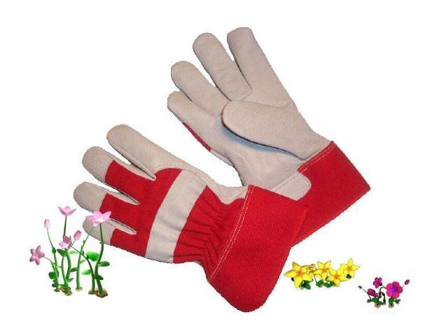 G & F Top-Grain Goatskin Women's Garden Gloves with Rubberized Safety Cuff, 1 Pair.