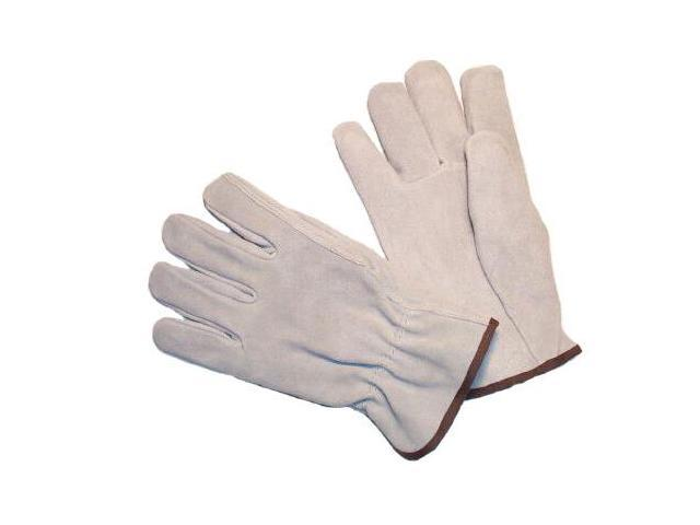 G & F Premium Split Cowhide Leather Gloves, Straight Thumb, 3 Pair Pack.
