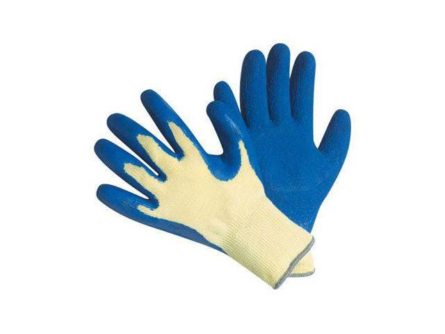 G & F Cut Resistant 100% Kevlar Gloves, Heavy Weight Textured Latex Coated