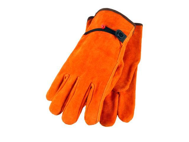 G & F Split Cowhide Leather Gloves with Ball and Tape, Straight Thumb X-Large, 3 Pair Pack.