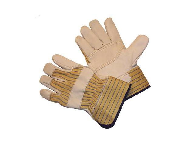 G & F Cowhide Leather with Double Patch Palm and Rubberized Safety Cuff, 3 Pair Pack Large.
