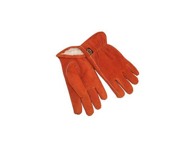 G & F Suede Cowhide Leather Gloves with Pile Lined Winter Must Have, 3 Pair Pack