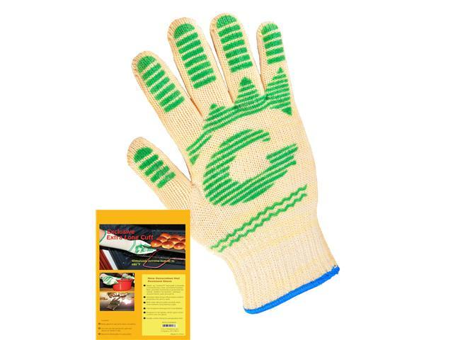G & F 5 Finger Oven Gloves  made of Nomex with Heat Stand Upto 480F, 2 Gloves Value Pack.