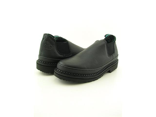 Georgia GR270 Romeo Giant Mens Size 9.5 Black Loafers Wide Work Boots & Shoes