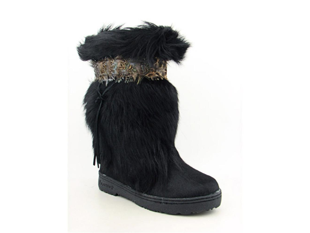 Bearpaw Kola II Womens Size  9 Black Boots Mukluks Hair Fur Snow Boots