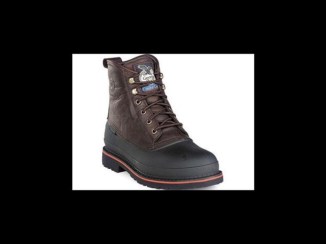 "GEORGIA G6633 6"" ST WP MudDog Brown Shoes Mens SZ 6.5"