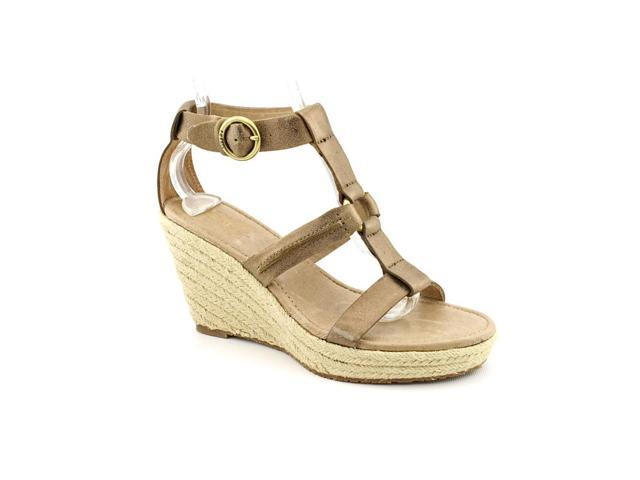 Fossil Selena Womens Size 9 Bronze Leather Wedge Sandals Shoes UK 8 New/Display
