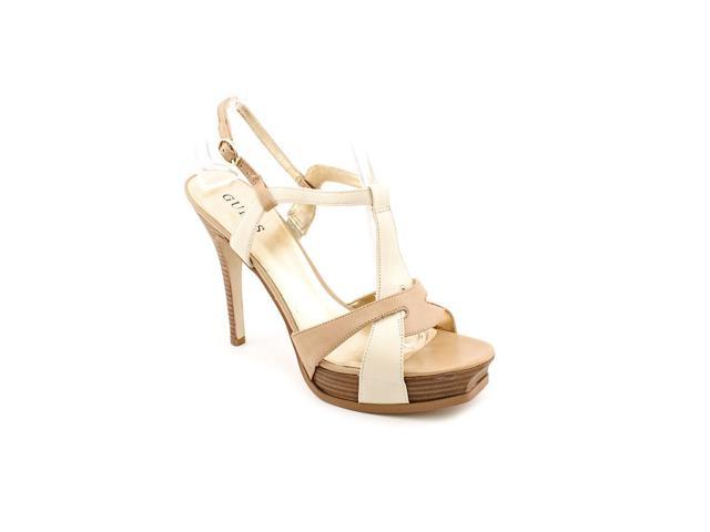 Guess Larosa Womens Size 9.5 Beige Open Toe Leather Platforms Sandals Shoes
