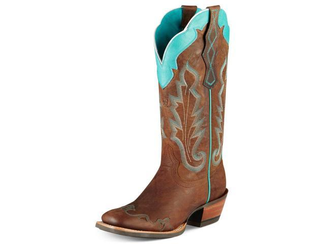 ariat caballera womens size 10 brown grain leather