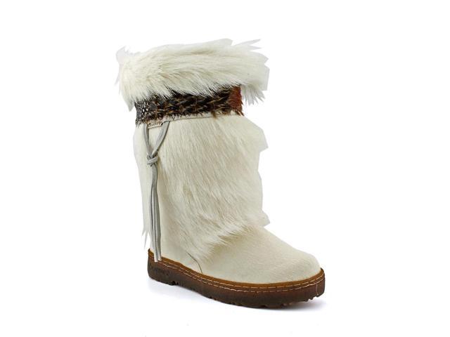 Bearpaw Kola Womens Size 5 White Boots Winter Hair Fur Snow Boots UK 3