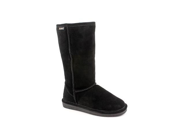 Bearpaw Emma Tall Womens Black Suede Winter Boots