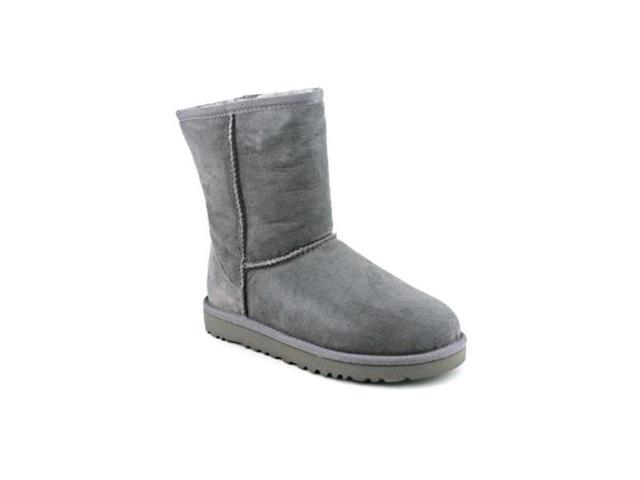 Ugg Australia Classic Youth Girls Size 3 Gray Suede Winter Boots