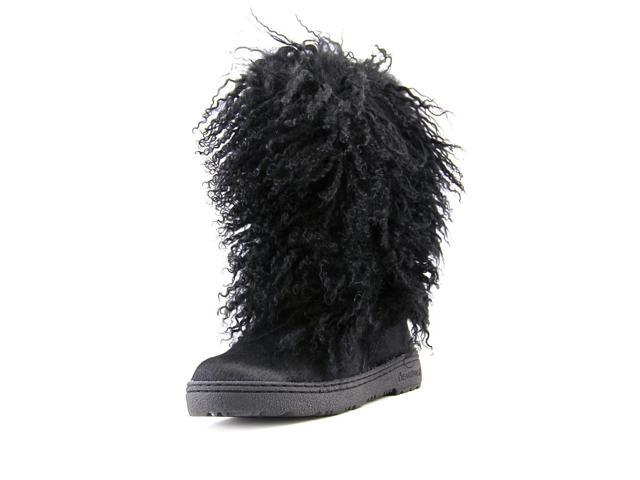 Bearpaw Boetis II Womens Size 6 Black Artificial Fur Snow Boots