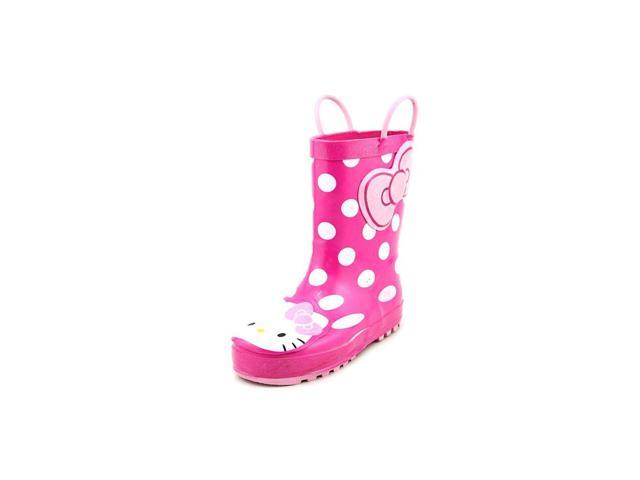 Western Chief Hello Kitty Polka Dotted Cutie Youth US 3 Pink Rain Boot