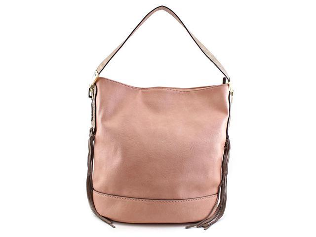 MG Collection Janna Tassel Slouchy Women Nude Tote
