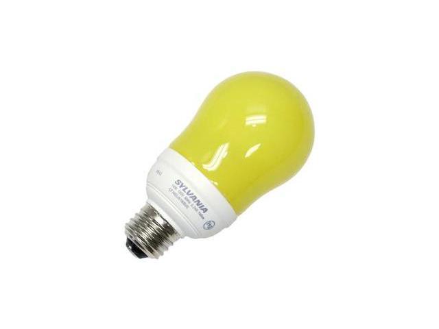Sylvania 29789 - CF14EL/A19/YELLOW/RP Pear A Line Screw Base Compact Fluorescent Light Bulb